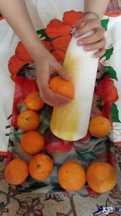 کشیدن پرتقال روی کله قند