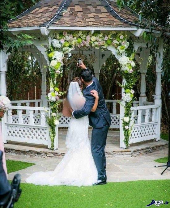 مدل عروس و داماد در باغ