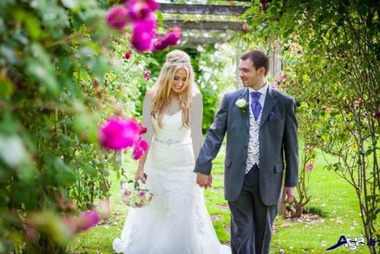 عکس زیبای عروس و داماد