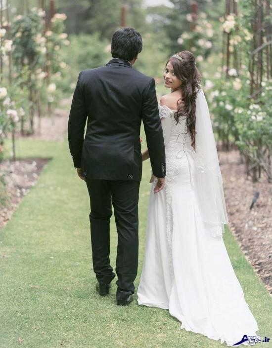 عکس جدید عروس و داماد در طبیعت