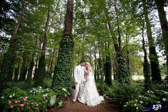ژست عاشقانه عروس و داماد
