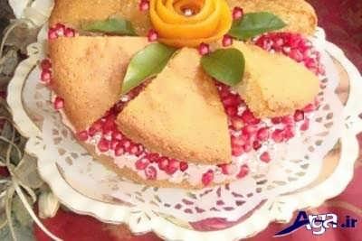 تزیین ساده کیک انار