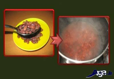 پختن لوبیا قرمز