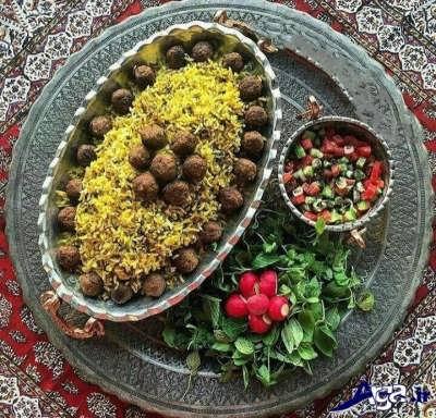 کلم پلو شیرازی خوشمزه و لذیذ