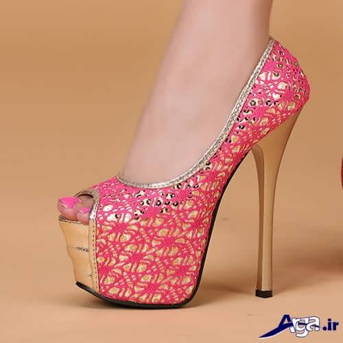 کفش طرح دار و مجلسی دخترانه