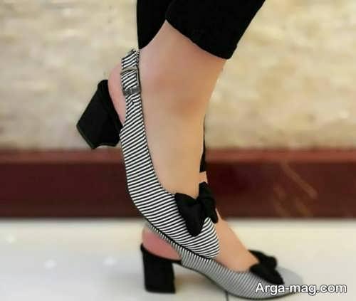 کفش پاشنه دار دخترانه زیبا