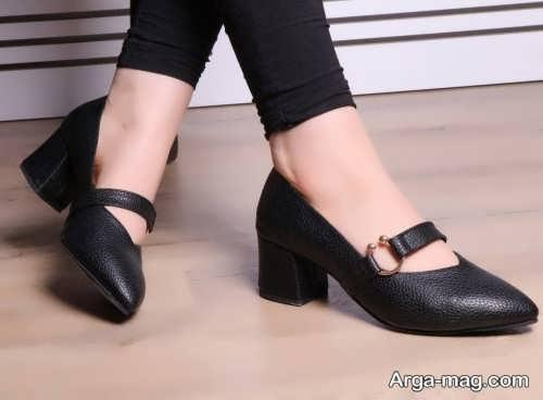 کفش پاشنه دار دخترانه شیک