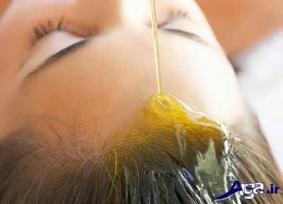 جلوگیری از سفید شدن موها با روغن کرچک