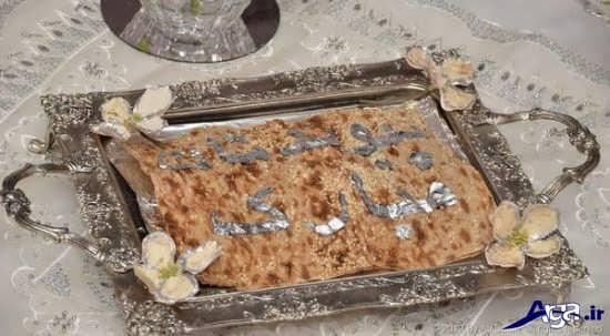 تزیین سینی نان برای سفره عقد