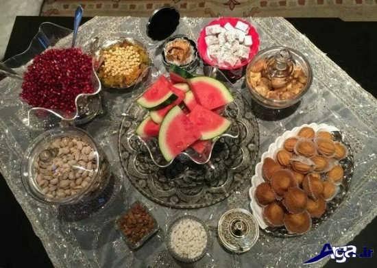 چیدمان میز برای شب یلدا