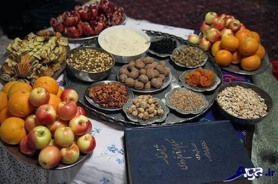 تزیین ساده و سنتی شب یلدا