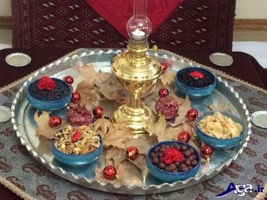تزیین سفره شب یلدا برای عروس