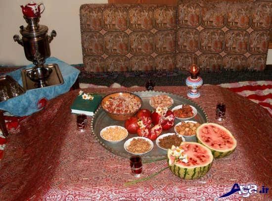تزیین سنتی سفره شب یلدا