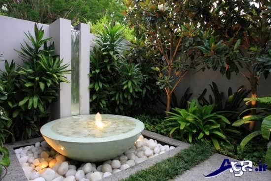 طراحی باغچه حیاط منزل مسکونی