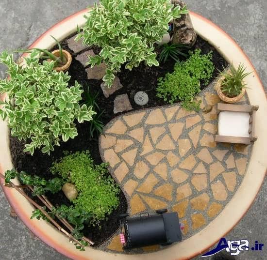 طراحی باغچه حیاط شیک