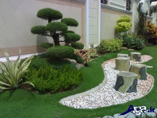طراحی زیبا و شیک باغچه حیاط خانه های مسکونی
