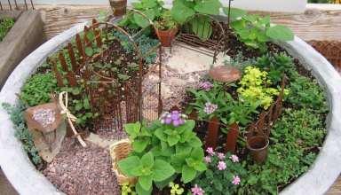 طراحی باغچه حیاط منازل مسکونی