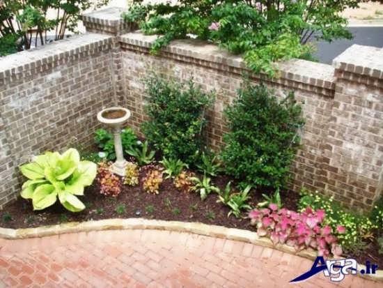 طراحی باغچه کوچک در حیاط منزل