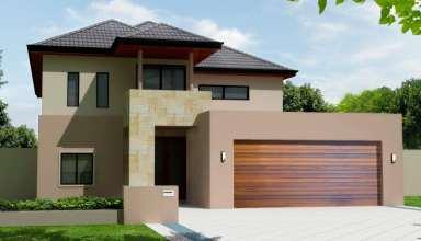 طراحی نمای ساختمان دو طبقه