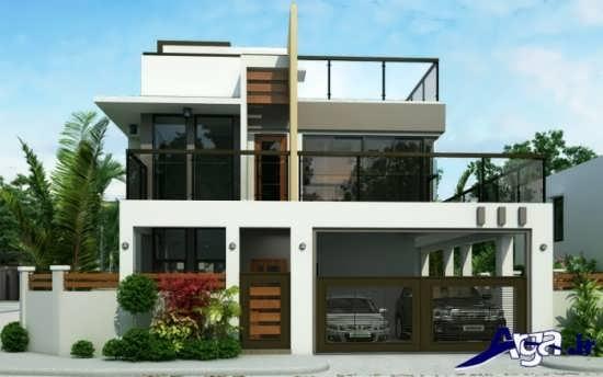 نمای مدرن و متفاوت ساختمان