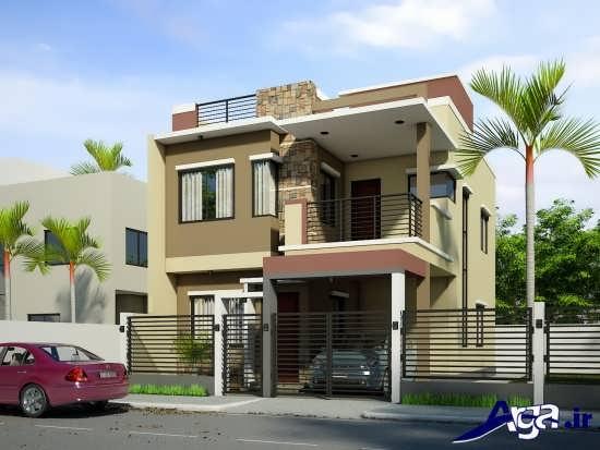نمای شیک و کاربردی ساختمان های دو طبقه