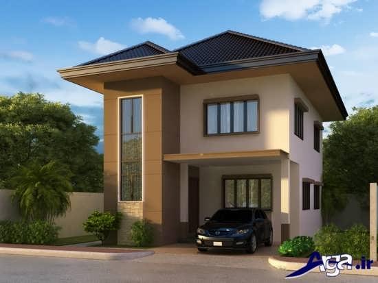 طراحی مدرن و متفاوت نما برای ساختمان دو طبقه