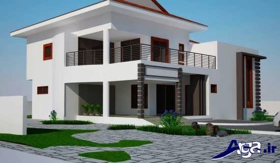 طراحی نمای سفید ساختمان
