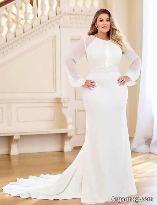لباس عروس برای خانم های چاق با طرح متنوع