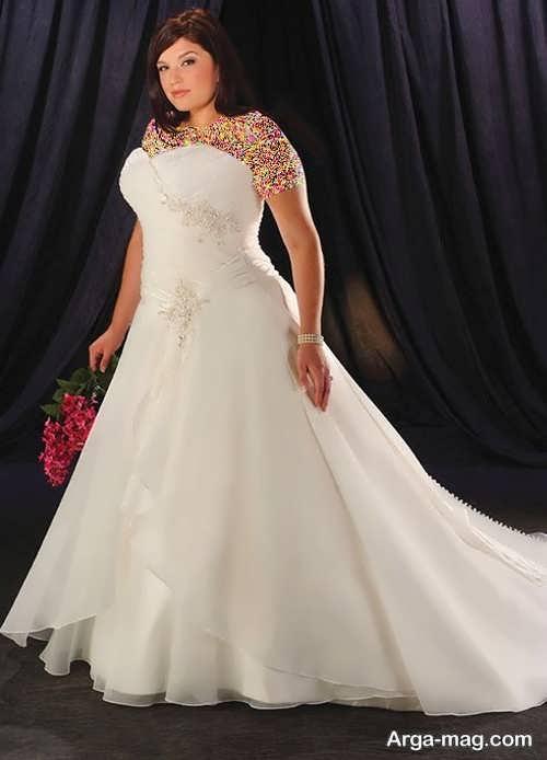 لباس عروس جدید برای خانم های تپل