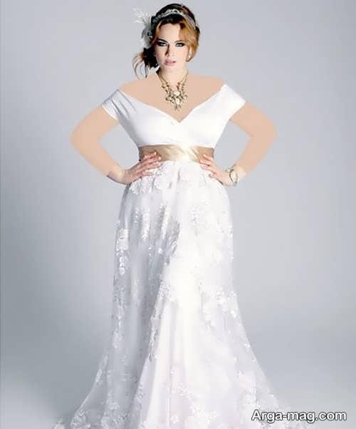 لباس عروس کار شده برای خانم های تپل