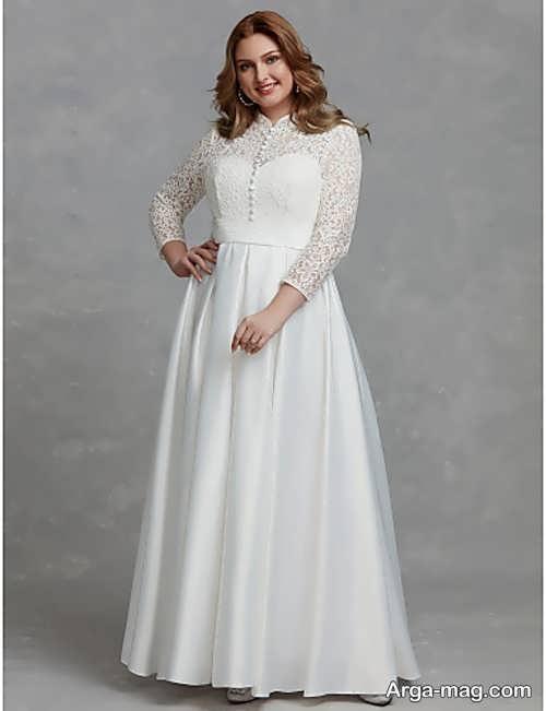 لباس عروس ایده آل برای خانم های تپل