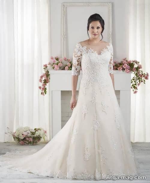 قشنگ ترین مدل لباس عروس برای افراد چاق