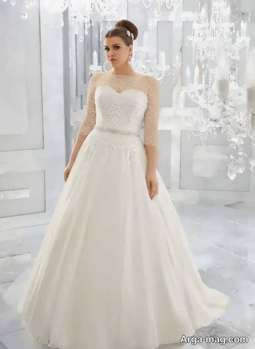 لباس عروس برای خانم های چاق با طرح شیک