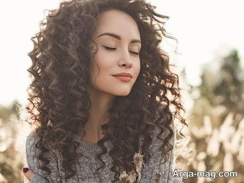 استایل مو فرفری زنانه