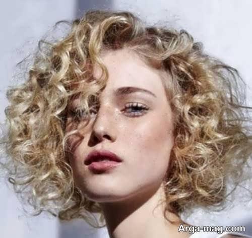استایل مو فر مد روز زنانه