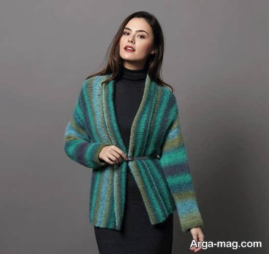 مدل ژاکت بافتنی زنانه بلند