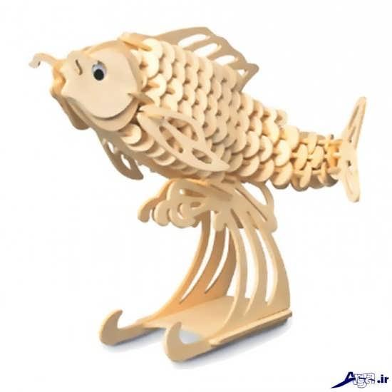 ساخت کاردستی ماهی با چوب