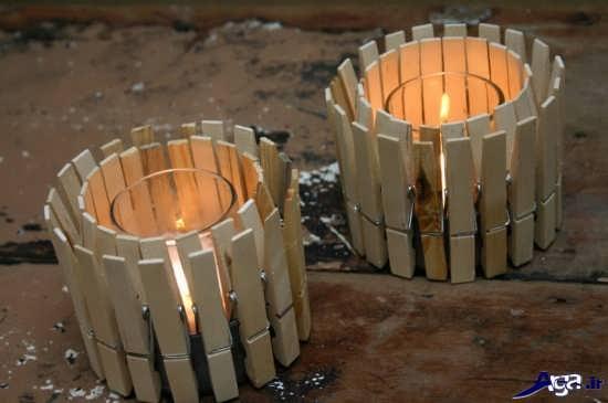 ساخت انواع جاشمعی با چوب