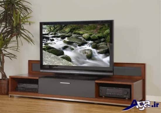 مدل میز تلویزیون چوبی با طرح های زیبا و متنوع