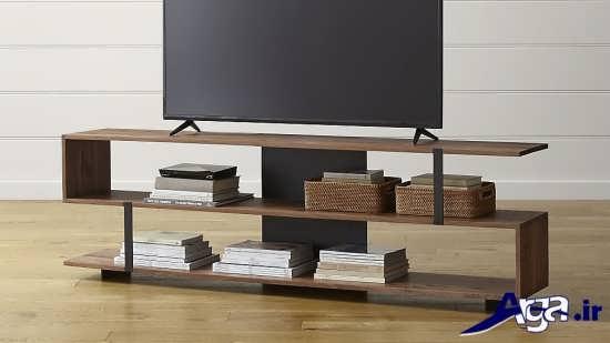 مدل میز تلویزیون چوبی مدرن