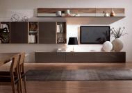 مدل میز تلویزیون چوبی با طرح های زمینی و دیواری