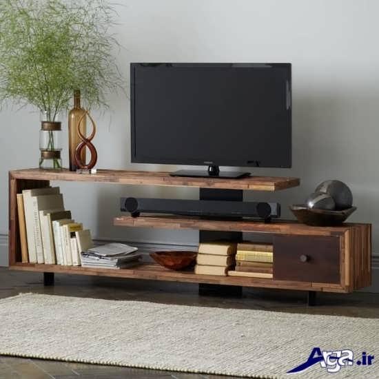 مدل میز تلویزیون چوبی با جدیدترین طرح های مد سال