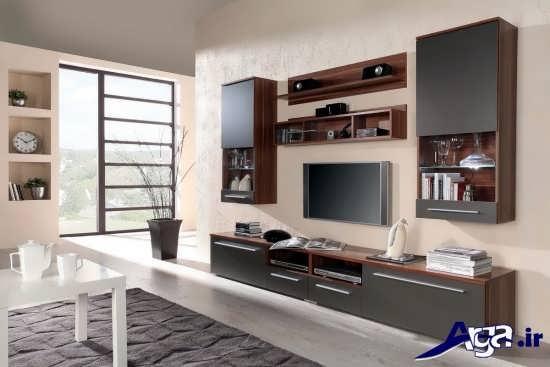 انواع طرح های زیبا و متنوع میز تلویزیون