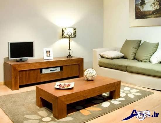 مدل میز تلویزیون چوبی با طرح های شیک و جذاب