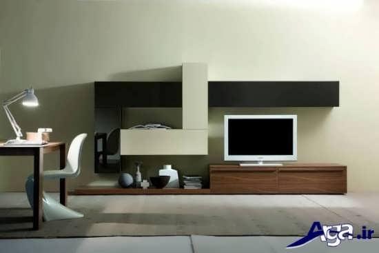 انواع مدل های میز تلویزیون چوبی با طراحی شیک و متفاوت