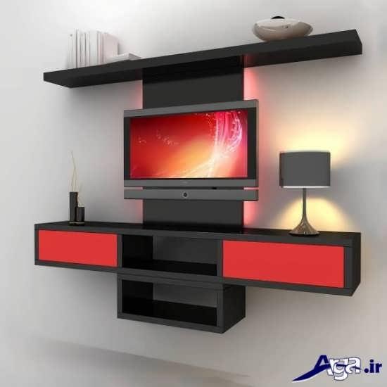 میز تلویزیون چوبی با جدیدترین طرح های مد سال