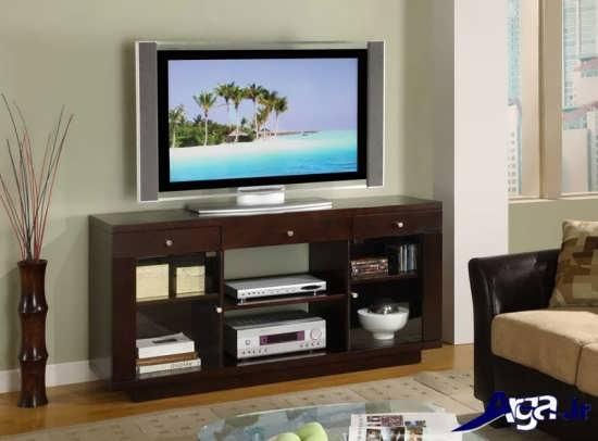 میز تلویزیون چوبی با طرح های زیبا و متنوع