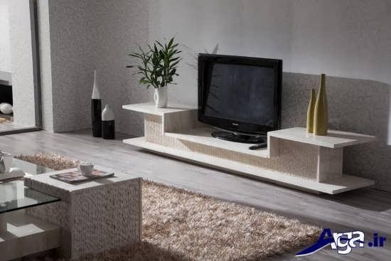 مدل میز های تلویزیون چوبی با طرح های شیک و متنوع