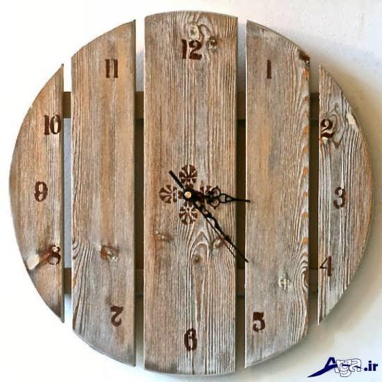 مدل ساعت چوبی جدید