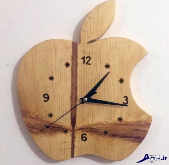 ساعت دیواری چوبی فانتزی